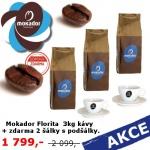 Mokador Florita 3 kg + 2 šálky AKCE